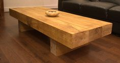 Oak Sleeper Coffee Table, from green oak railway sleepers from sustainable sources. via Etsy. Oak Railway Sleepers, Oak Sleepers, Coffee Tables Uk, Garden Coffee Table, Rattan Furniture, Upcycled Furniture, Rustic Table, Wood Table, Decoration Palette
