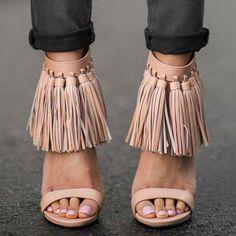 Privileged eila fringe heels