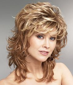 """Wavy Layers Front - 5"""", Crown - 6"""", Sides - 7"""", Back - 6 1/2"""", Nape - 8 1/2""""."""