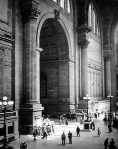 itsjohnsen:    Penn Station. The 1960's.(via)    This makes me depressed to see how far this station has fallen.