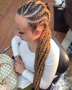 31 Ghana Braids Styles For Trendy Protective Looks Braided Ponytail Hairstyles, Braided Hairstyles For Black Women, Up Hairstyles, Hairstyle Braid, Goddess Braid Ponytail, Goddess Braids, Fishtail Plaits, Half Braid, Ghana Braid Styles