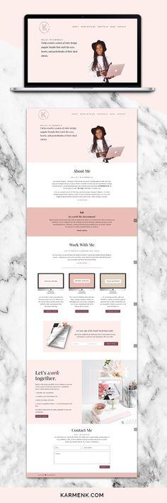Karmen K | Brand + Website Design Portfolio by Karmen Kendrick