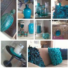 groen blauwe accessoires in woonkamer more ideeën groen blauwe ...