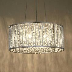 Buy John Lewis Emilia Drum Crystal Pendant Light from our Ceiling Lighting range at John Lewis. Closet Lighting, Dining Room Lighting, Bedroom Lighting, Kitchen Lighting, Home Lighting, Lighting Ideas, Lighting Design, Dining Rooms, Pendant Lighting Over Dining Table