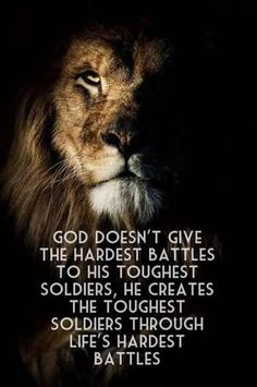God doesn't give the hardest battles to his toughest soldiers life quotes quotes quote inspirational quotes life quotes and sayings Wisdom Quotes, Bible Quotes, Spiritual Quotes, Positive Quotes, Qoutes, Funny Quotes, No Fear Quotes, Jesus Quotes, Positive Attitude