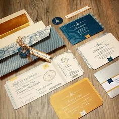 Pilot, plane, aviation themed wedding invitation custom designed!