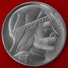 DAVE BOULAY HOBO NICKEL - 1937 BUFFALO PROFILE Hobo Nickel, Buffalo, Classic Style, Coins, Carving, Profile, Artist, User Profile, Rooms