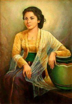 Javanese lady in Kebaya