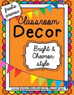 This is a freebie preview of my Classroom Decor Mega Pack in Brights & Chevron!You can see the 100 page pack here!In this freebie:-Word Wall Letter Cards A to Z-Days of the Week Posters for Calendar Hope you enjoy this freebie!  If you want to see more products like this, just follow my TPT store! :)