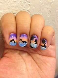 12th .. Sunset by mayH from Nail Art Gallery