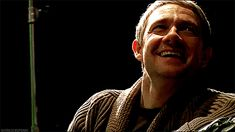 New perspective  Martin Freeman smiles