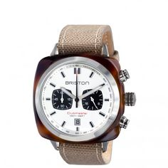 Clubmaster Sport Acetate - Chronograph tortoise shell with white dial