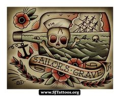 American Traditional Tattoos | ... %20Sailor%20Jerry%2006 American Traditional Tattoos Sailor Jerry 06