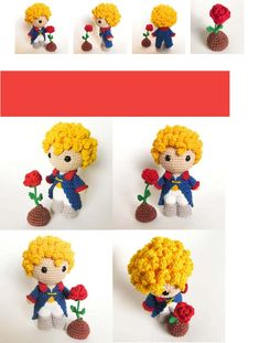 Crochet Toys Patterns, Stuffed Toys Patterns, Crochet Dolls, Crochet Keychain, Crochet Necklace, Disney Princess Set, Crochet Projects, Craft Projects, Diy Doll