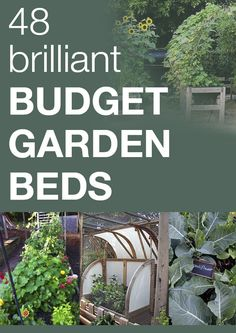 48 brilliant budget garden beds - check out the awesome red beds that are practically free!