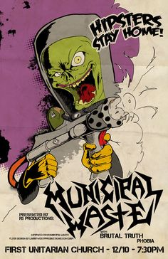 Awesome Concert Posters | ...Municipal Waste