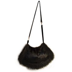 Black Fur Purse / Bag / Shoulder Bag exclusively from David Appel Furs Beverly Hills