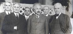 Albert Einstein and Company. Touch this photo and hear him speak..