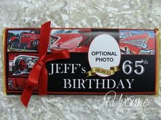 Classic Cars/ For Him Candy Bar Wrappers - Chocolate Bar Favors - For Dad Birthday, Grandfather Mil Birthday Candy, Adult Birthday Party, 60th Birthday, Male Birthday, Birthday Celebration, Birthday Wishes, Birthday Ideas, Rustic Candy Bar, 13th Birthday Invitations