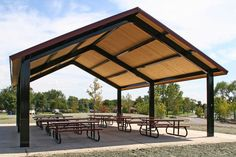 Learn more about how to rent Des Plaines Park District facilities. Pavillion Backyard, Outdoor Pavilion, Outdoor Cafe, Outdoor Restaurant, Outdoor Living, Diy Carport, House Roof Design, Porch Styles, Steel Frame House