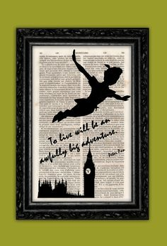Flying Peter Pan A Big Adventure Art Print  by ThePurpleHamster, €7.00