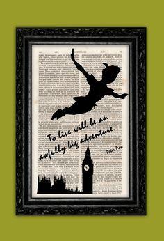 Flying Peter Pan A Big Adventure Art Print  by ThePurpleHamster, €7.00