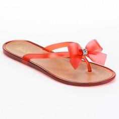 9456cd3e4ad7f Bootsi Tootsi Ring Bow Jelly Sandals - Women from Kohls on Catalog Spree