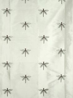 Halo Embroidered Dragonflies Dupioni Silk Custom Made Curtains from Cheery Curtains. Made of silk, curtains can be used for bedrooms, living rooms, or guest rooms. Fabric Material, Dupioni Silk Fabric, Custom Made Curtains, Silk Curtains, Ash Grey, Fabric Samples, Dragonflies, Halo, Alone