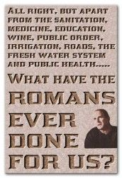 """Monty Python canvas wall art print - """"What have the Romans ever done for us"""" - from the Life of Brian film"""