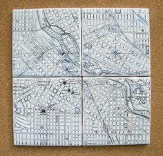Minneapolis Map Coasters $28.00