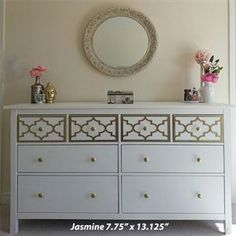 O'verlay Kit for IKEA HEMNES (8 drawer) (more decorative overlay kits for other Ikea furniture on this website)