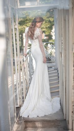 victoria f 2016 bridal illusion long sleeves v cut back sheath wedding dress