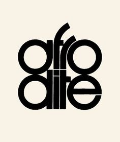 Afrodite — Herb Lubalin @uniteditions via @admjlws