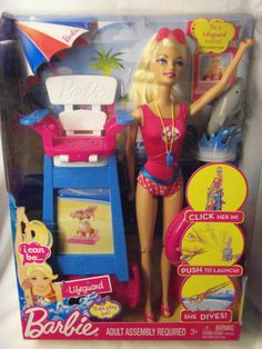 Barbie I Can Be Lifeguard Playset - Online And Bath Time Fun - Brand New