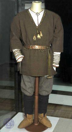 Recreation of man's Latgallian costume; 11th century CE.