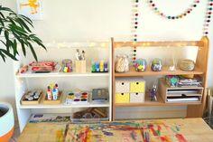 How we Montessori Art Shelves Update
