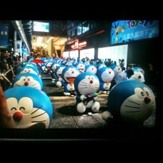 Hundreds of Doraemons marching at Victoria Harbour #doraemon #HongKong #vacation #sightseeing - @paul_felix | Webstagram