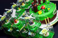Angry Birds Theme Cake and Cupcakes