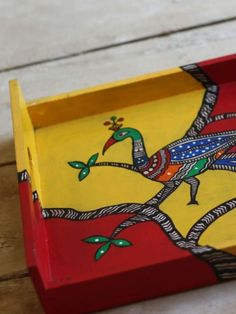 Beautiful madhubani tray