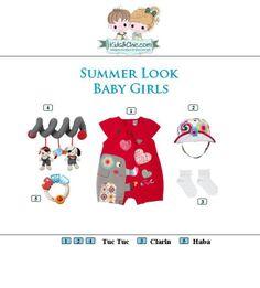 #Summer #look for #babygirls  from #Clarin #TucTuc #Haba. Check at   www.kidsandchic.com/baby  #girlsclothing #girlsfashion #kidsfashion #trendychildren #kidsclothing #shoppingbarcelona #romper #toys #sunhats #socks
