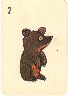 Jerzy Flisak playing cards small bear