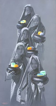 AUNG KYAW HTET http://www.widewalls.ch/artist/aung-kyaw-htet/ #drawing  #painting