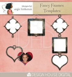 Fancy Frames freebie from Angie Hinksman #digiscrap #scrapbooking #digifree #scrap