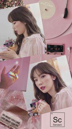 Pink Wallpaper, Cool Wallpaper, Mobile Wallpaper, Wallpaper Lockscreen, Girls' Generation Taeyeon, Girls Generation, Seohyun, Jeonju, Kpop Girl Groups