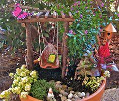 a miniature garden for my sister.. www.facebook.com/AmyKateMiniatureGardensTerrariums