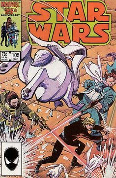 "Star Wars 105: The Party's Over is the one-hundred-fifth issue in the Marvel Star Wars series of comics. Who has captured whom on Zeltros? That's what everyone wants to know when three different civilizations invade that world! It's up to Luke Skywalker and the Hoojibs to save the day. If that weren't enough, Luke meets the villainous Toffs [sic] for the first time! ""The Party's Over"" is written by Jo Duffy and drawn by Cynthia Martin."