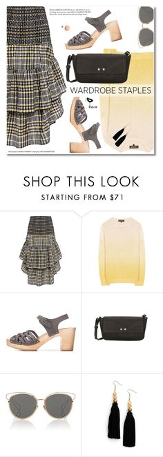 """""""Tried and True: Wardrobe Staples"""" by svijetlana ❤ liked on Polyvore featuring Ganni, Loro Piana, Christian Dior, Ink + Alloy and CC"""