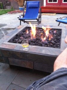 How to build an outdoor gas fire pit | Dustin's blog