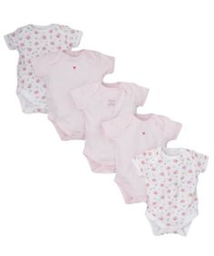 I'm shopping Mothercare Pretty Floral Bodysuits- 5 Pack in the Mothercare iPhone app.