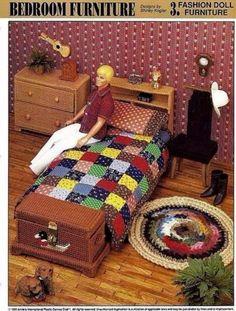 Bedroom-Furniture-Plastic-Canvas-Pattern-3-P-6-Annies-Fashion-Doll-Furniture